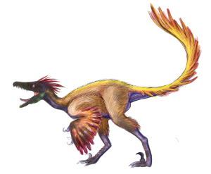 A troodon probably looked something like this